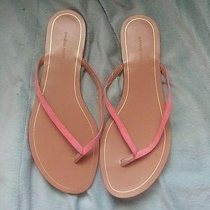 Banana Republic Pink Suede Upper Flip Flops